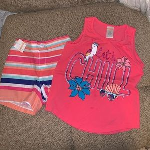 NWT Gymboree Shorts and worn once Gymboree tank